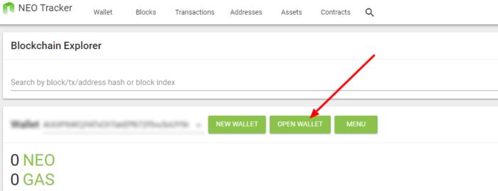 odpri neo denarnico