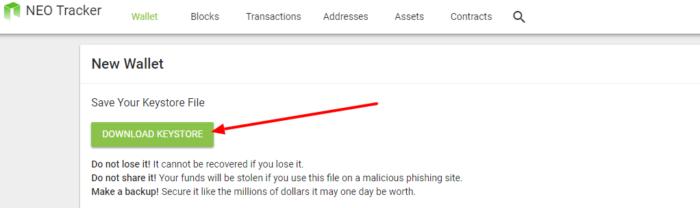 NEO in ETH denarnice za kriptovalute